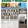 In the 7 September Irish World – the voice of the Irish Community in Britain since 1987