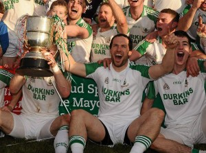 Barry Solan celebrates Ballaghadereen's Mayo county final victory