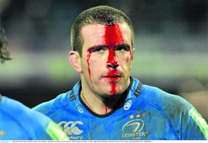 Shane Jennings sheds blood for Leinster