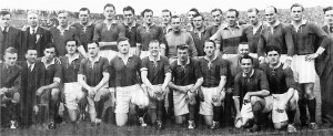 Dr. John McAndrew, fifth from left on the back row, was a Mayo hero, a double All-Ireland winner in 1950-51 and a legendary administrator for Warwickshire