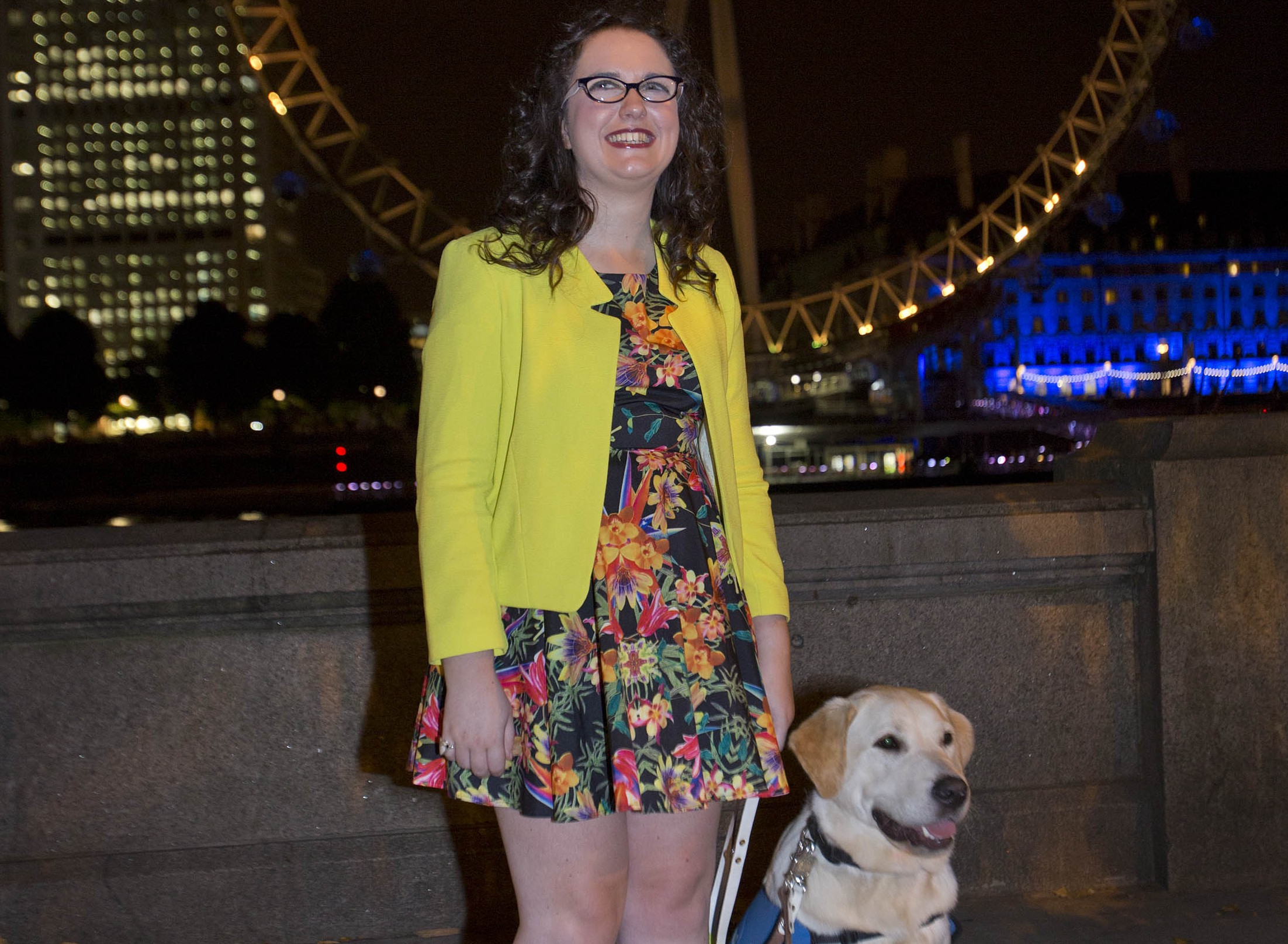 Voice winner Andrea launches guide dog campaign
