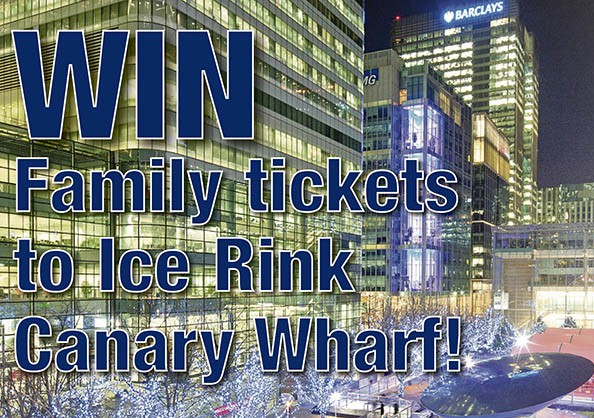 Get festive with family tickets to Ice Rink Canary Wharf!