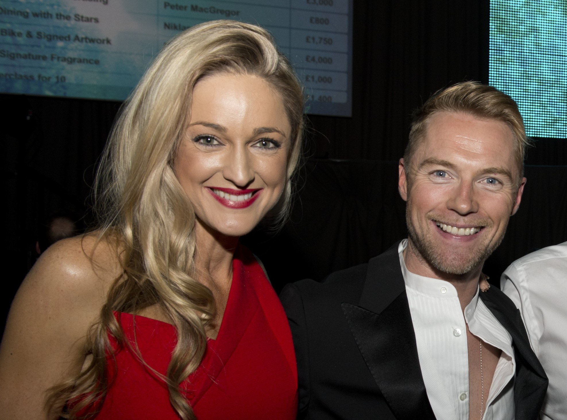 Boyzone perform at Emeralds and Ivy Ball