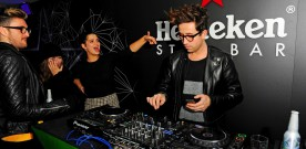 Nick Grimshaw and Co at Heineken launch