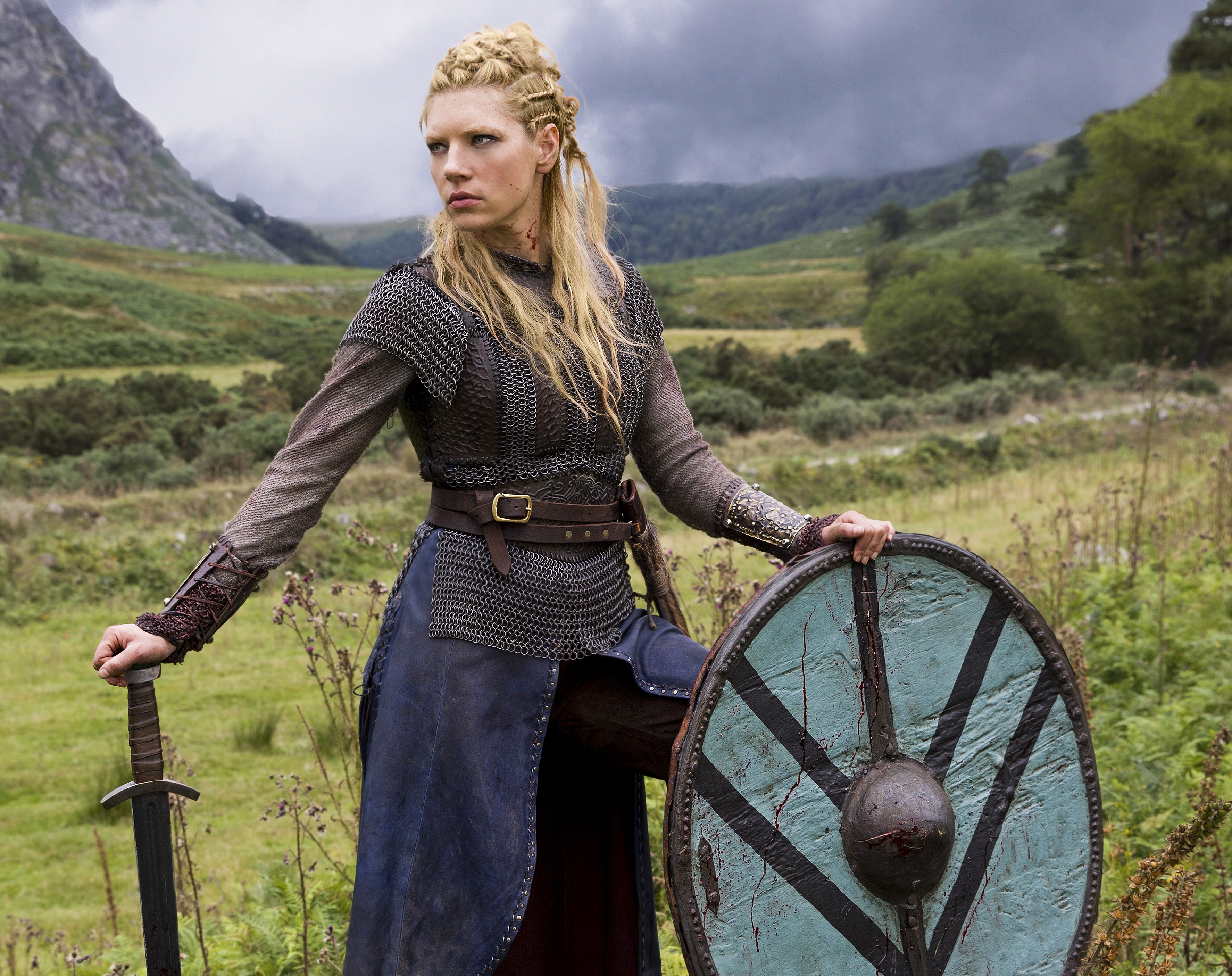 Katheryn Winnick and George Blagden talk Vikings VIDEO