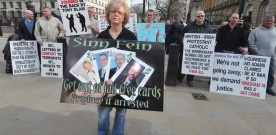 Birmingham bomb justice campaigners protest at Downing Street