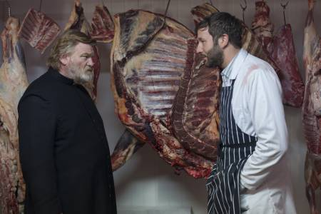 Chris O'Dowd and Brendan Gleeson in a scene from the film