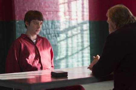 Domhnall Gleeson plays the psychopath that his father's character visits in prison. The younger actor, who has acted with his father several time before, has said this is the first time he has felt able to go toe to toe with his father