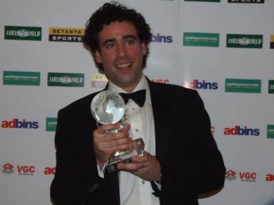 Stephen with his Irish World Award