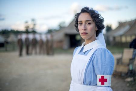 Oona Chaplin plays Kitty Trevalyon, a volunteer nurse with a mysteriouis past