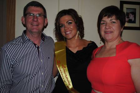 Liverpool Rose Niamh Johnson with proud parents Joe and June