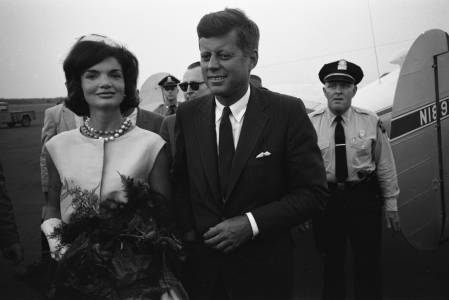 Jackie Kennedy with husband JFK