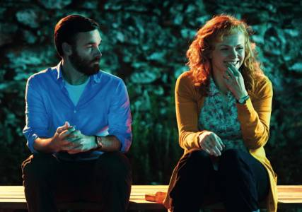 Will Forte and Maxine Peake in a scene from the movie.