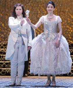 Tara (left) as Octavian