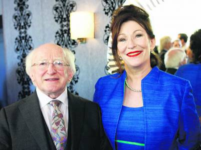 President Higgins with Kate O'Toole
