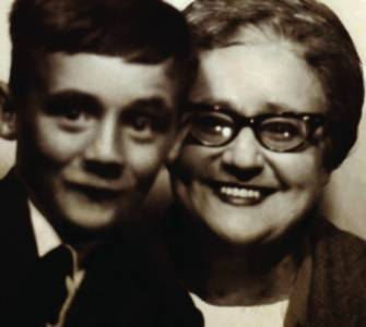 A young Brendan with his mum, Maureen
