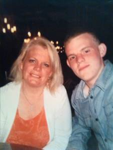 Karen Audino with her late son, Jimmy Guichard