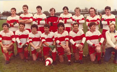 The successful 1983 Tir Chonaill Gaels  team with Patrick on the left in the back row