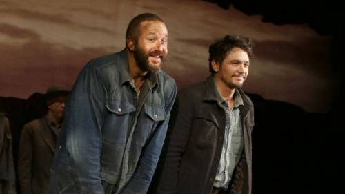 O'Dowd with James Franco, Of Mice and Men