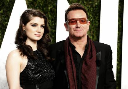 Eve and her dad Bono