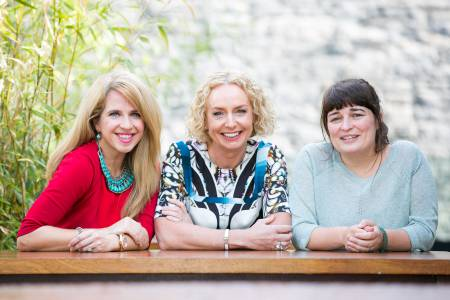 Anne O'Leary, CEO, Vodafone Ireland, Joan Walsh, Partnership International, and Tracey Ryan, Bia Beauty