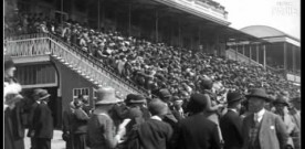 Video footage of Curragh horse racing from 1929