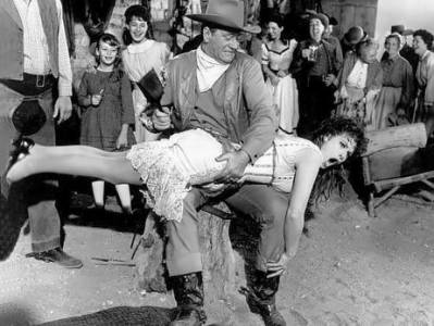 In 1963 comedy western McLintock! with John Wayne