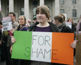 Over 1,500 protest at Ireland's abortion laws