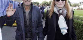 Bruce Springsteen cheering on daughter at Dublin Horse Show