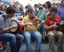 Higgins alludes to non-Irish contigent at Fleadh