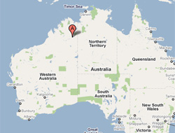 The woman is said to have given birth in Halls Creek, NW Australia
