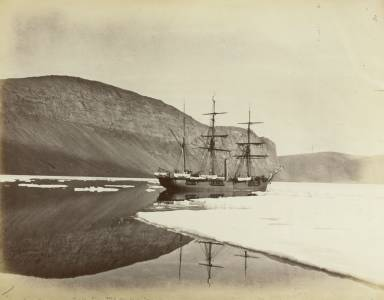 The ship Alert is detained by ice. Nares Expedition 1875