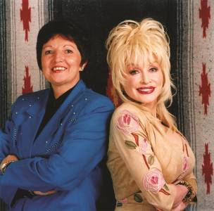 Margaret with country superstar Dolly Parton