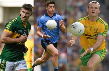 James O'Donoghue, Diarmuid Connolly and Neil McGee fight for the Player of the Year Award