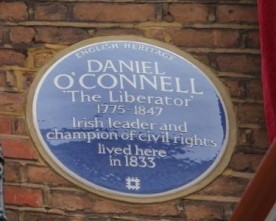 Daniel O'Connell heritage plaque unveiled in London