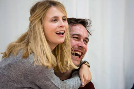 Yolanda Kettle and Charles de Bromhead in rehearsals