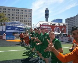 Boys in green impress in Homeless World Cup campaign