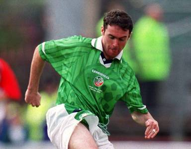 Alan in action for Republic of Ireland