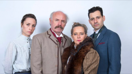 The cast of Kafka v Kafka with Michael Loughnan second from left and Adam Henderson Scott far right