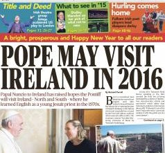 A very Happy and prosperous 2015 to all our readers from the Irish World