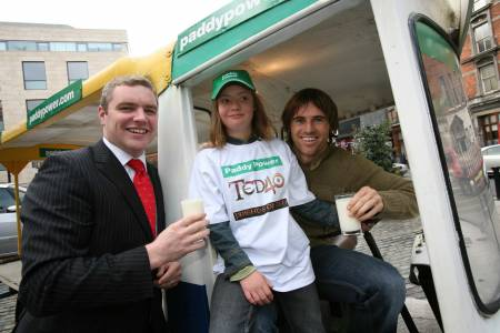 Kevin pictured raising some awareness for Down Syndrome Ireland. Picture courtesy of Paddy Power