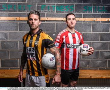 David Bentley and Aaron Kernan in their adopted clubs' strips