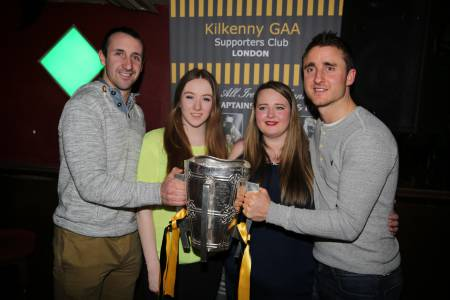 Eoin Larkin and David Herity with Molly Dunne and Emma Spinks