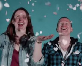 Dubliners launch marriage equality confetti