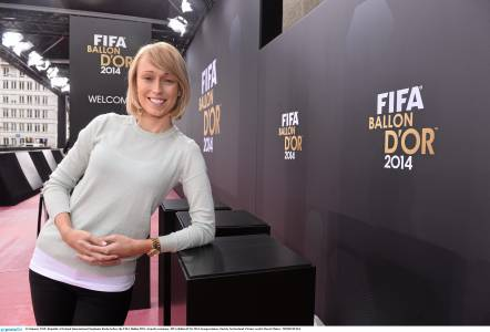 Stephanie Roche  at the Ballon d'Or ceremony