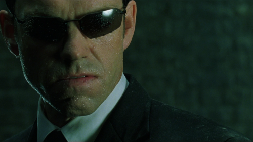Don't give Agent Smith the finger and expect to get a phone call