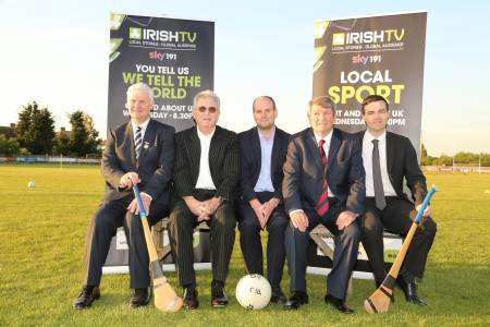 Aogan O'Fearghail, John Griffin, Irish World Sports Editor David Hennessy, London Chairman Noel O'Sullivan, Irish TV's Ian McDonnell. Pictures: Brendan Vaughan