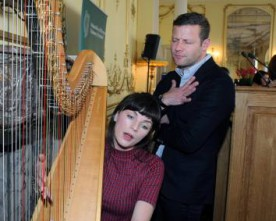 Dermot O'Leary marks Joyce's special day at Embassy