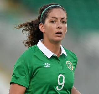 Fiona O'Sullivan plays for Republic of Ireland as a striker and is a club team mate of Laura Bassett at Notts County