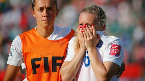 Heartbreak: Laura Bassett's last minute own goal sent England Women out of the World Cup Semi-Final against Japan